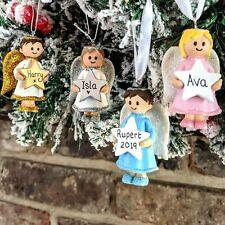 Personalised Christmas Tree Decorations Angel Unicorn Dinosaur 1st Xmas Baubles