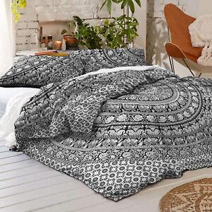 Indian Bohemian Mandala Bedding Quilt Floral Duvet Cover QueenSize Comforter Set