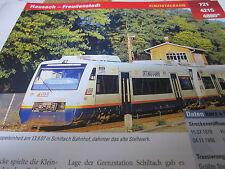 Archiv  Eisenbahnstrecken 721 Hausach Freudenstadt Kinzigtalbahn