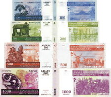 MADAGASCAR - Lotto 4 banconote 100/200/500/1000 Ariary 2008 FDS - UNC