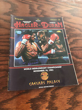 RARE VINTAGE ORIGINAL 1983 ROBERTO DURAN vs MARVIN HAGLER  BOXING PROGRAM