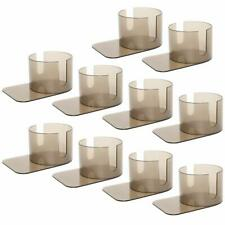 10 Pcs Plastic Slide Under Poker Table Cup Drink Holder with Cut Outs Us Ship