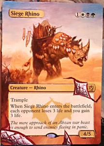Siege Rhino - Full Art / Altered