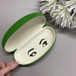Kate Spade New York NY Large Green Eyeglass Sunglass Hard Case Storage Oval