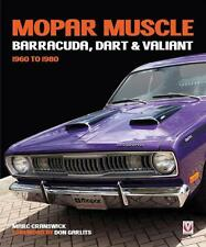 MOPAR MUSCLE: Barracuda, Dart, & Valiant 1960-1980 Book~New 2018 HC Release!