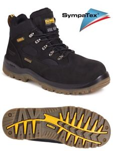 DEWALT Challenger 3  Black Waterproof  Work Boots  S3 Steel Toe Sympatex Size 7