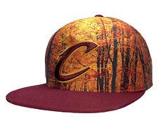 Mitchell & Ness Hombre Bosque Camo Cleveland Cavaliers NBA Snapback Cap Hat Marrón