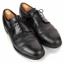 ALLEN EDMONDS Solid Black Leather Cap Toe Mens Dress Shoes - 10 D
