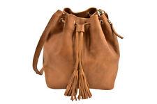 One Teaspoon Womens Loren Bucket Bag Leather Brown Size OS