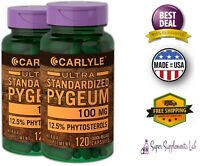 Pygeum Africanum Bark Extract 100 mg 240 Capsules Prostate Support Urinary Tract