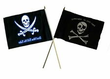 "12x18 12""x18"" Wholesale Combo Pirate Dead Men Tale & Commitment Stick Flag"