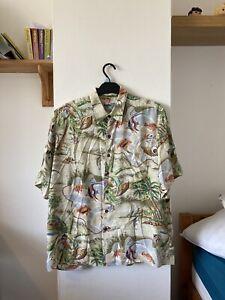 Reyn Spooner Hawaiian Shirt Short Sleeve Men's Size L Vintage