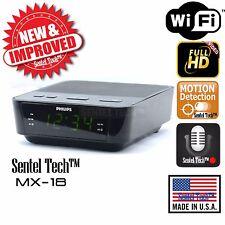 1080P Full HD WiFi IP Hidden Spy Camera Alarm Clock Radio Motion Detection DVR