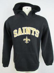 New Orleans Saints Boys M (8) - XL (14/16) Pullover Hooded Sweatshirt NOS 187