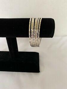 Sterling Silver Multi-Layer Bangle Bracelet
