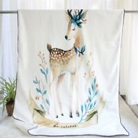 2020 Hand painted animals soft Mini flannel warm baby blanket in winter