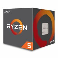NEW! Amd Ryzen 5 1400 Cpu With Wraith Cooler Am4 3.2Ghz 3.4 Turbo Quad Core 65W