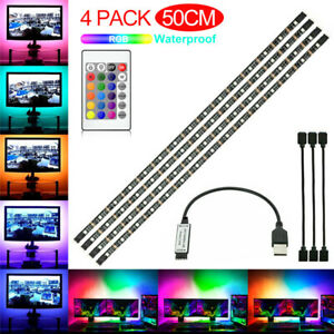 5V USB TV Back Light RGB Backlight LED Lights 4 Strips Background with Remote
