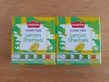 Dominion Sugar Free Sweets. Lemon Sherbets, 70g each box. X2 sealed.
