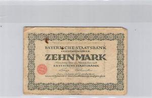 Allemagne Bavière 10 Mark 15.10.1918 Nuremberg n° 245510A