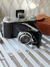 Ensign Selfix 820 Folding Camera Vintage 1950s Leather Carry Case