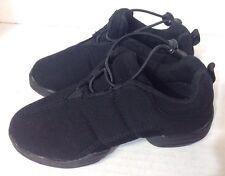 Capezio Black Vegan Canvas Hip Hop Shoes Dance Sneaker Kids Sz 13.5 Jazz Ballet