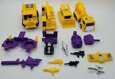 1993 Transformers G2 Devastator Vehicle & Parts Lot! *Read*
