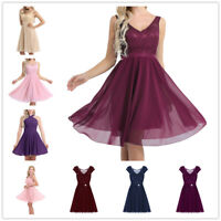 Women Formal Lace Short Dress Prom Evening Party Bridesmaid Ball Gown Cocktail