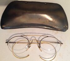 MATSUDA Vintage  Eyewear Antique Brass Oval Glasses in Case