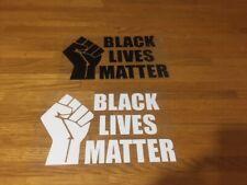 BLACK LIVES MATTER PATCH FLOCAGE NOIR OU BLANC - 20 CM PAR 12 CM