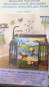 NOJO Critter Babies WALL DECALS Décor Nursery Insects butterfly ladybug nature