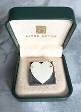 Rare Pat Flynn Sterling w/ 18k Gold And Bone Heart Pin w/ Signature