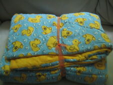 Nap Mat - Yellow Rubber Duckies with Blue Bubble Backround