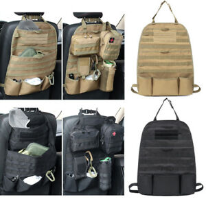 Car Seat Back Organizer Tactical MOLLE Panel Vehicle Cover Protector Storage Bag