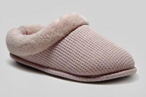 Women's Dluxe By Dearfoams Clare Slide Slippers Pink - SIZE S (5/6)