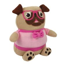 Lavender Pug Microwaveable Knitted Cosy Friend hottie warmer