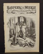 "Harper's Weekly Cover ""How Many Times Shall Cesar Bleed In Sport"" 1874 A10#28"