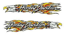 Harley Davidson Adler Flammen Aufkleber Set 23x5cm Flame Eagle Tank Decal HD XL