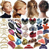 Women Crystal Flower Girl Plastic Hair Clip Clips Claw Comb Accessories Headwear