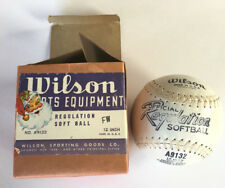 "Soft Ball A9132 12"" Vtg Wilson Regulatio Duplex Heavy Duty Private Estate Kapok"
