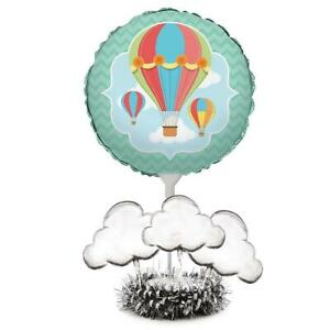 Up, Up & Away Hot Air Balloon Baby Shower Birthday Party Decoration Centerpiece