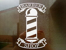 barbers shop barber pole 12inch window salon vinyl graphic sticker wall art door