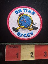Funny Running Alarm Clock Patch - Girl Scouts On Time 74K8
