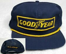 Vintage GOODYEAR Patch Swingster Mesh Yellow Rope Snapback Trucker Hat Cap