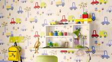 ERISMANN CHILDRENS KIDS TRANSPORT LORRY CARS  QUALITY FEATURE WALLPAPER 7349-08