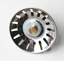 Stainless Steel Kitchen Sink Strainer Waste Disposer Plug Drain Stopper FilterVJ