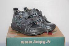 BOPY -  Bepovel - Chassures bébé Fille -  Cuir Gris -  T 20 neuf