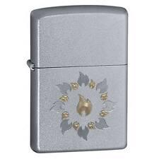 Zippo Ring of Fire Satin Chrome Lighter Model 21192 NEW