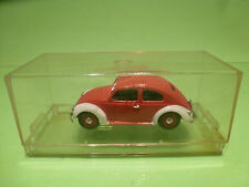 VITESSE VW VOLKSWAGEN KAFER OVAL - RED + WHITE 1:43 - NEAR MINT IN BOX