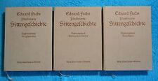 SITTENGESCHICHTE Ergänzungsbande 1, 2, 3 Eduard FUCHS Ergänzungsband EROTIK 1911